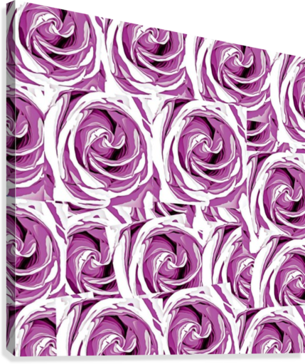 closeup pink rose texture pattern abstract background  Canvas Print