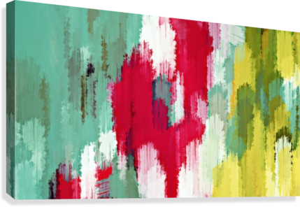 red green and yellow painting texture abstract background  Canvas Print