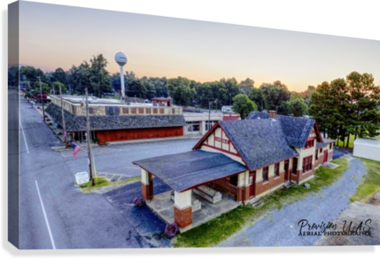 Carlisle, AR | Train Depot  Canvas Print