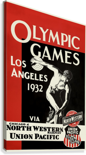 1932 Olympic Games Vintage Style Travel Poster 18x24