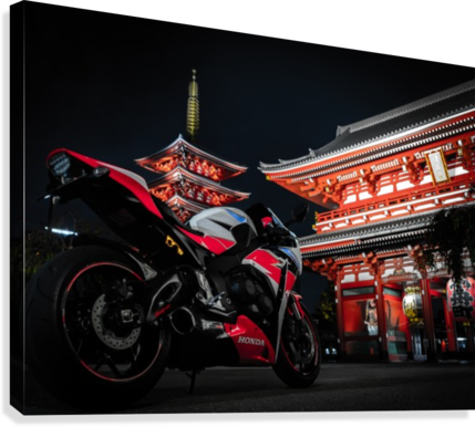Honda At The Temple  Canvas Print