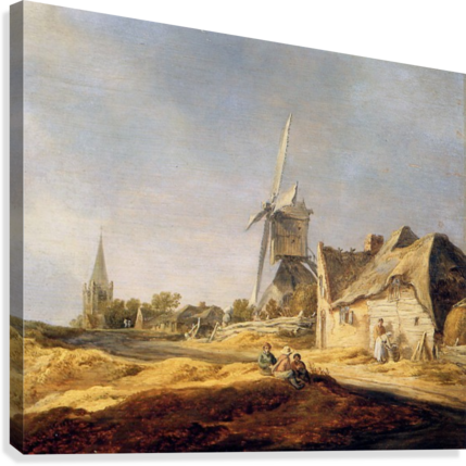View on country road Sun  Canvas Print