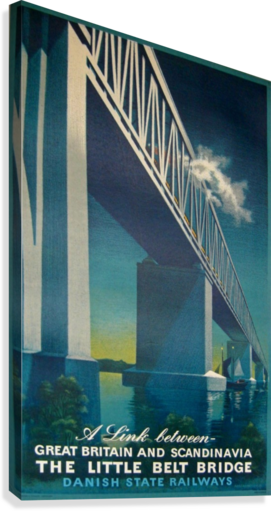 Vintage travel poster for Danish State Railways  Canvas Print