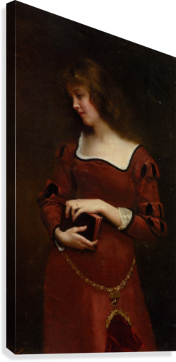Wistful thoughts - Gustave Jean Jacquet Canvas