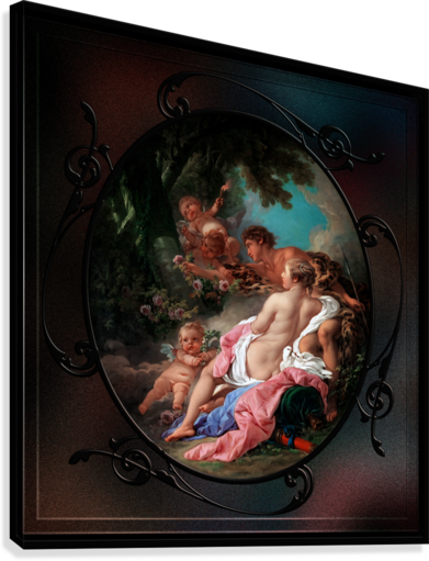Angelica and Medoro by Francois Boucher Classical Fine Art Xzendor7 Old Masters Reproductions  Canvas Print