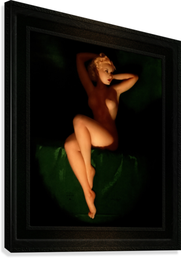 Golden Beauty Queen by Earl Moran Vintage Xzendor7 Old Masters Reproductions  Canvas Print