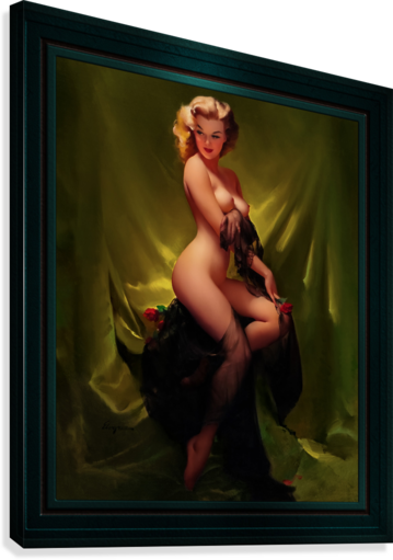 Golden Beauty by Gil Elvgren Vintage Pinup Illustration Xzendor7 Old Masters Reproductions  Canvas Print