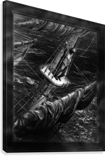 I Had Done a Hellish Thing by Gustave Dore Classical Fine Art Xzendor7 Old Masters Reproductions  Canvas Print