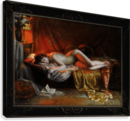 Just Finishing Reading A Novel by Delphin Enjolras Classical Art Xzendor7 Old Masters Reproductions  Canvas Print