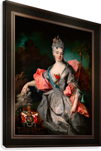 Lady Maria Josefa Drummond by Jean-Baptiste Oudry Classical Fine Art Xzendor7 Old Masters Reproductions  Canvas Print