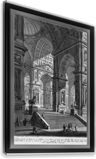 Large Sculpture Gallery Built On Arches by Giovanni Battista Piranesi Classical Fine Art Xzendor7 Old Masters Reproductions  Canvas Print