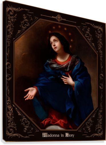 Madonna in Glory by Carlo Dolci Classical Art Xzendor7 Old Masters Reproductions  Canvas Print