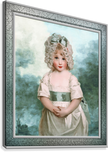 Miss Charlotte Papendick as a Child by John Hoppner Classical Art Xzendor7 Old Masters Reproductions  Canvas Print
