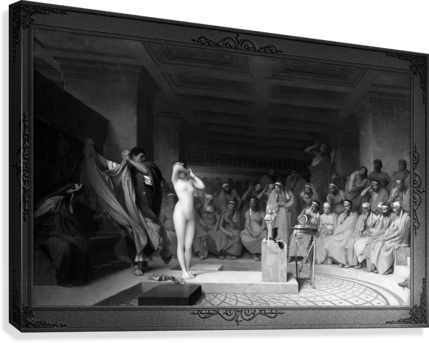 Phryne Revealed Before The Areopagus by Jean-Leon Gerome Classical Fine Art Xzendor7 Old Masters Reproductions  Canvas Print