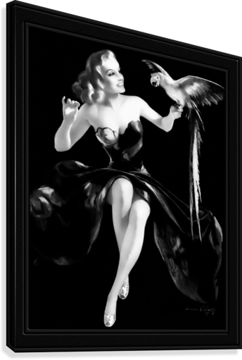 Polly Wants A Cracker by Bradshaw Crandell Vintage Xzendor7 Old Masters Art Deco Reproductions  Canvas Print