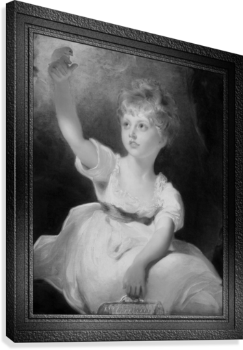 Princess Charlotte of Wales by Sir Thomas Lawrence Classical Fine Art Xzendor7 Old Masters Reproductions  Canvas Print