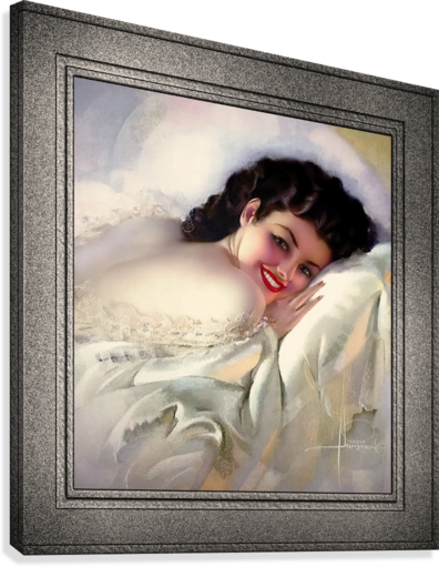Sweet Dreams by Rolf Armstrong Vintage Illustration Xzendor7 Art Reproductions  Canvas Print