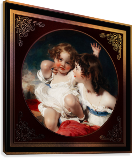 Nature - The Calmady Children by Sir Thomas Lawrence Classical Fine Art Xzendor7 Old Masters Reproductions  Canvas Print