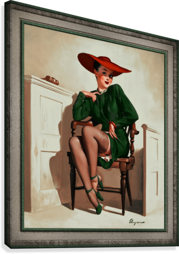 The Verdict Was by Gil Elvgren Vintage Pinup Illustration Xzendor7 Old Masters Reproductions  Canvas Print