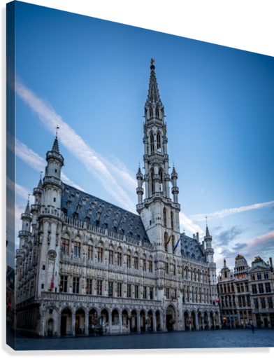 Town Hall in the Grand Place - Belgium  Canvas Print