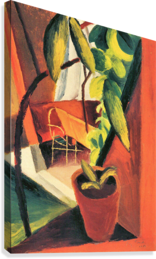 A look into summer-house by August Macke  Canvas Print