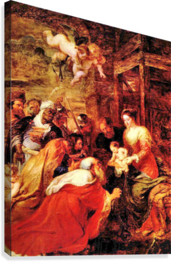 Adoration of the Magi by Rubens  Canvas Print