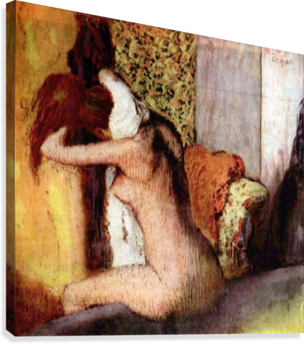 After bathing 2 by Degas  Canvas Print