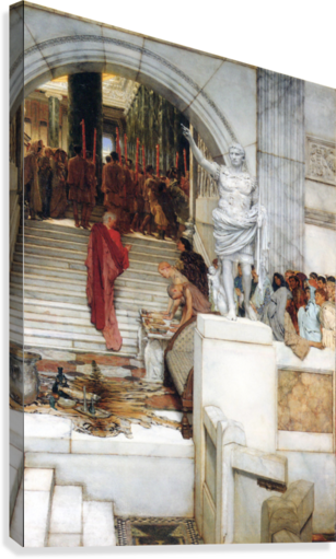 After the Audience by Alma-Tadema  Canvas Print