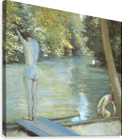 Bathers by Cailiebotte  Canvas Print