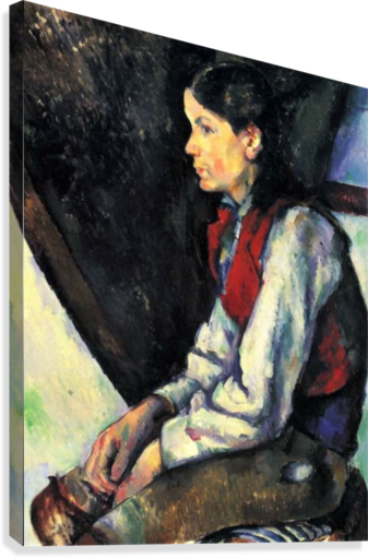 Boy with Red Vest by Cezanne  Canvas Print