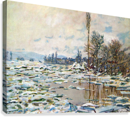 Break Up of Ice by Monet  Canvas Print