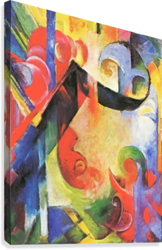 Broken Forms by Franz Marc  Canvas Print
