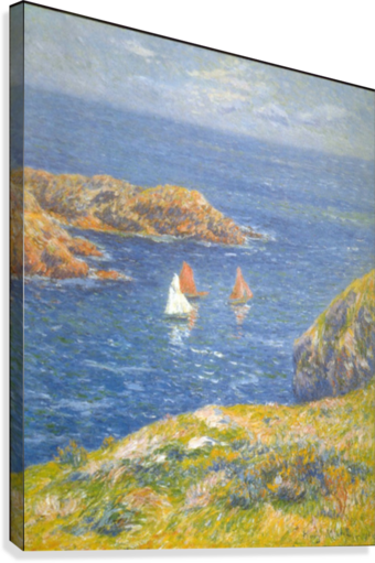 Calm Seas by Moret  Canvas Print