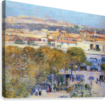 Central Place and Fort Cabanas, Havana by Hassam  Canvas Print