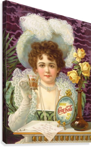Coca Cola 1900  Canvas Print