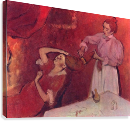Combing hair by Degas  Canvas Print