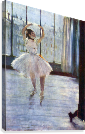 Dancer being photographed by Degas  Canvas Print