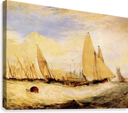 East Cowes Castle, Regatta by Joseph Mallord Turner  Canvas Print