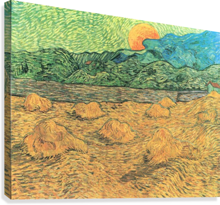 Evening landscape at moonrise by Van Gogh  Canvas Print