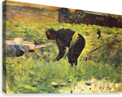 Farmer at work by Seurat  Canvas Print
