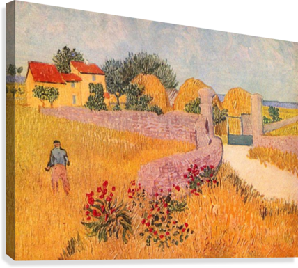 Farmhouse in Provence by Van Gogh  Canvas Print