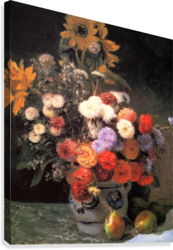 Flowers In A Vase Canvas