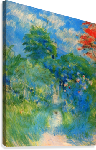 Gardenpath in Mezy by Morisot  Canvas Print