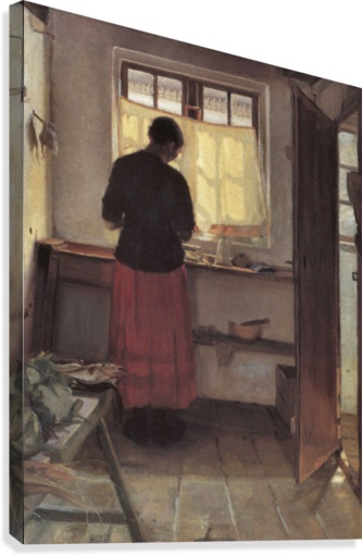 Girl in the kitchen by anna ancher canvas