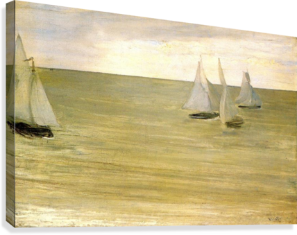 Grey and green the silver sea by Whistler  Canvas Print