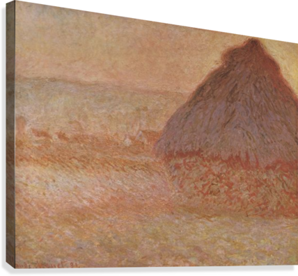 Haystacks at sunset by Monet  Canvas Print