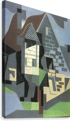 Houses in Beaulieu by Juan Gris  Canvas Print