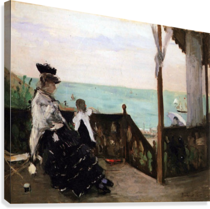 In a villa on the beach by Morisot  Canvas Print