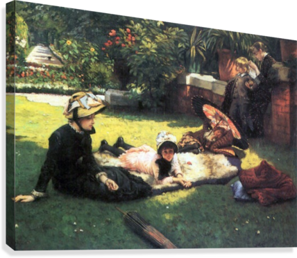 In the sun by Tissot  Canvas Print