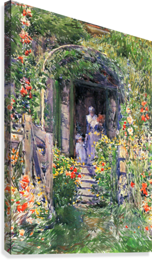 Isles of Shoals Garden by Hassam  Canvas Print